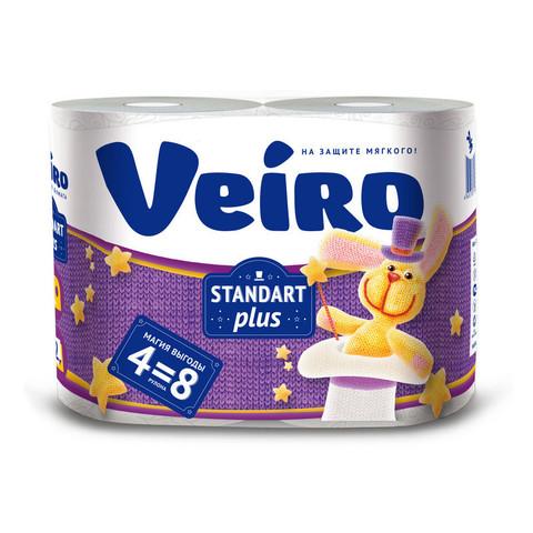 Бумага туалетная Veiro 2сл бел вторич втул 30м 240л 4рул/уп 3c24