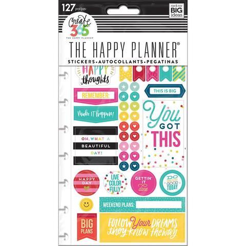 Блок со стикерами для ежедневника Create 365 Planner Stickers- Happy Brights - 127шт.