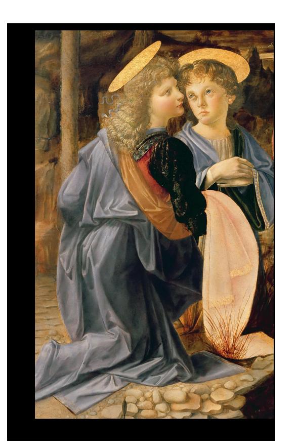 """Леонардо Да Винчи Репродукция """"Леонардо Да Винчи - Два юных ангела """" Х122.png"""
