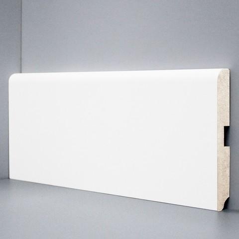 Белый ламинированный плинтус DEARTIO U102-120