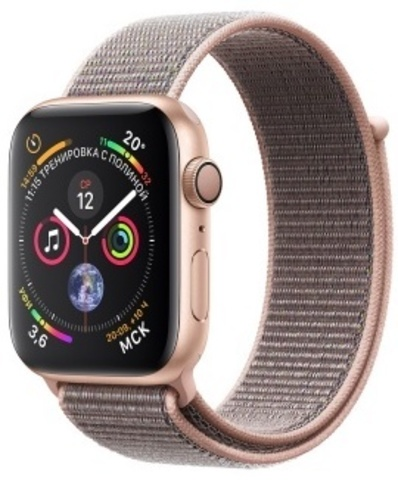 Apple Watch Series 4 44mm Aluminum Case with Sport Loop (Gold/Pink Sand)