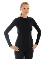 Термобелье рубашка Brubeck Thermo черная (LS10670) женская