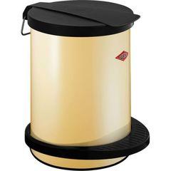 Ведро для мусора 13л Wesco Pedal bin 111 кремовое