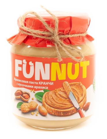 Арахисовая паста FUNNUT, c кусочками арахиса, 340 гр
