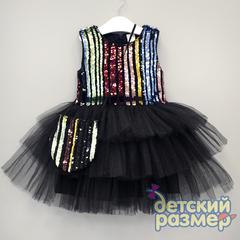 Платье 92-110 (сумочка, пайетки)