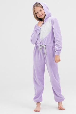 Пижама детская велюровая лиловая