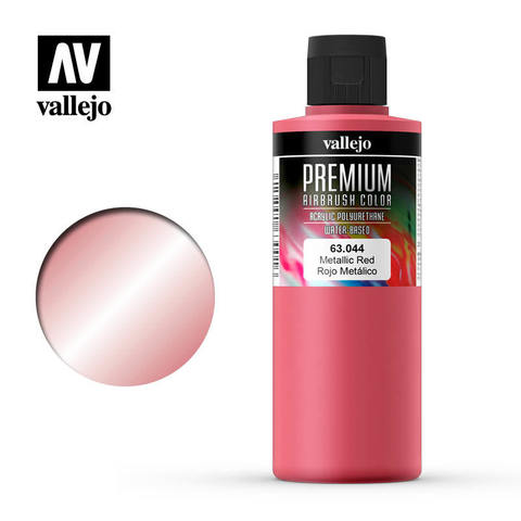 Premium Airbrush Metallic Red 200 ml.