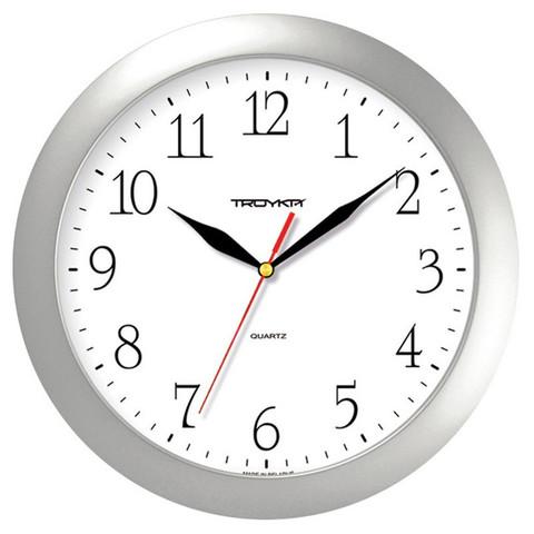 Часы настенные Troyka 11170113 круг., d290мм, плав.ход, пластик