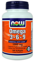 NOW	Omega-3-6-9 1000mg/200 softgels