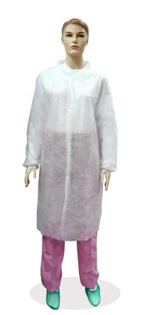 Халат медицинский на кнопках белый 30 гр./м2