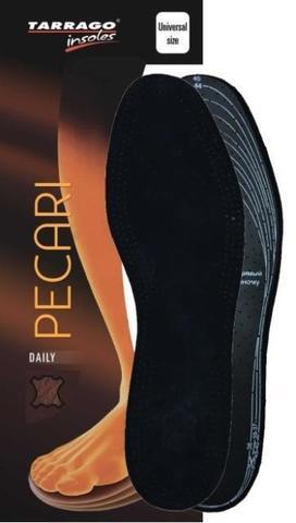 Кожаные черные стельки на латексной основе, Tarrago PECARI, Б/Р