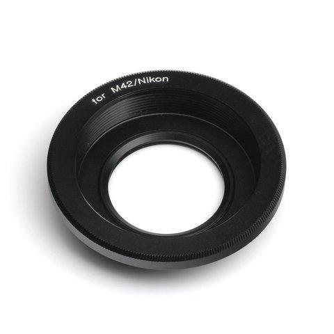 Переходник M42 на Nikon F с чипом и линзой