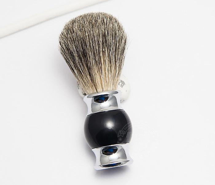 RAZ303-1 Помазок для бритья с рукояткой темно-синего цвета фото 02