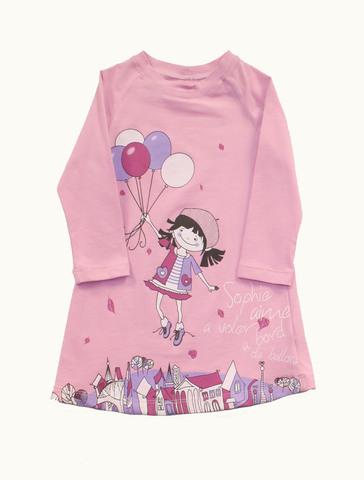 Basia 12-542-017п Платье для девочки розовое