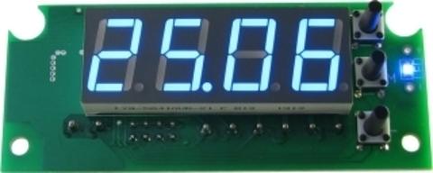 EK-STH0024UB - цифровой встраиваемый термостат с выносным датчиком, голубой