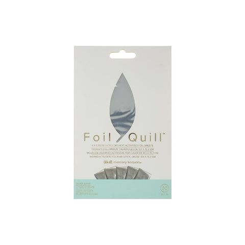 Фольга Foil Quill Foil Sheets от We R Memory Keepers . 30 шт: 10 х 15 см.  Цвет - Silver Swan