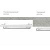Накладной и полувстраиваемый монтаж светильников EXIT к потолку