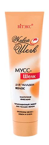 Мусс – шелк для укладки волос эластичной фиксации