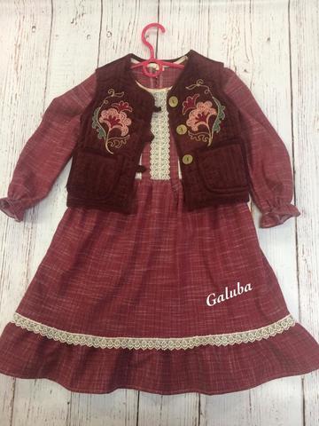 Платье детское Алина  , бордо .
