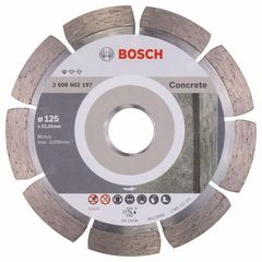 Алмазный отрезной круг по бетону Bosch Standard for Concrete 125x22.23x1.6x10 мм