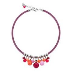 Колье Coeur de Lion 4810/10-0402 цвет оранжевый, красный, розовый