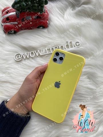 Чехол iPhone 11 Pro Max Glass Pastel color Logo /yellow/
