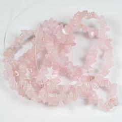 Бусина Кварц розовый, крошка, 3-5 мм, нить