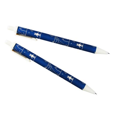 Ручка автоматическая черная Pink bear