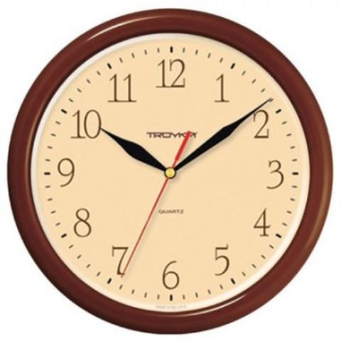 Часы настенные Troyka 21234287 круг., d245мм, плав.ход, пластик