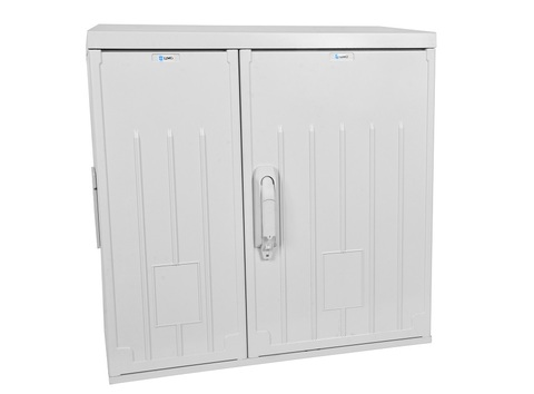 Шкаф ЦМО уличный всепогодный настенный 12U (Ш600 × Г300), полиэстер, дверь двухстворчатая