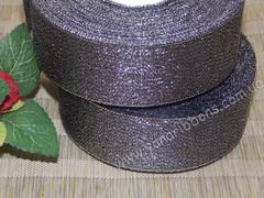Лента парча серая ширина 4 см