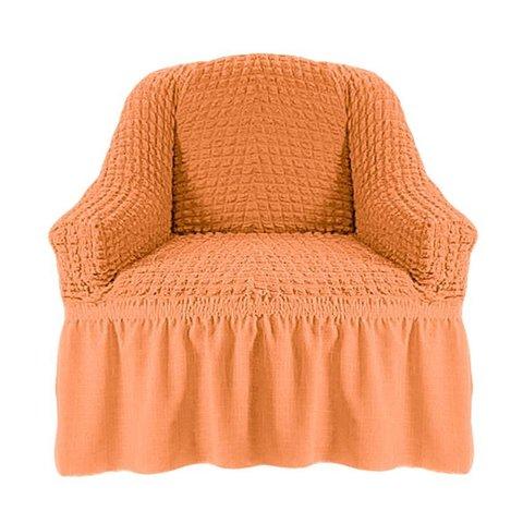 Чехол на кресло, коралловый