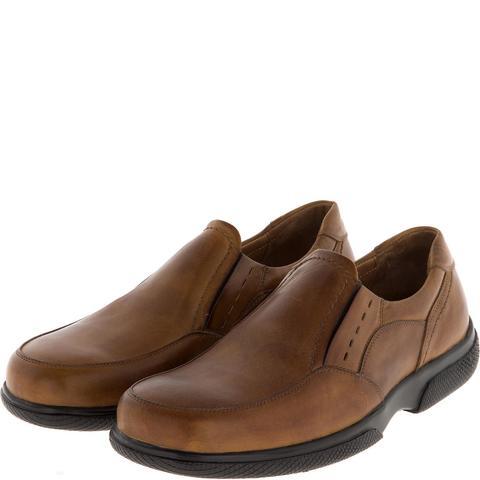582367 полуботинки мужские коричневые (коньяк). КупиРазмер — обувь больших размеров марки Делфино