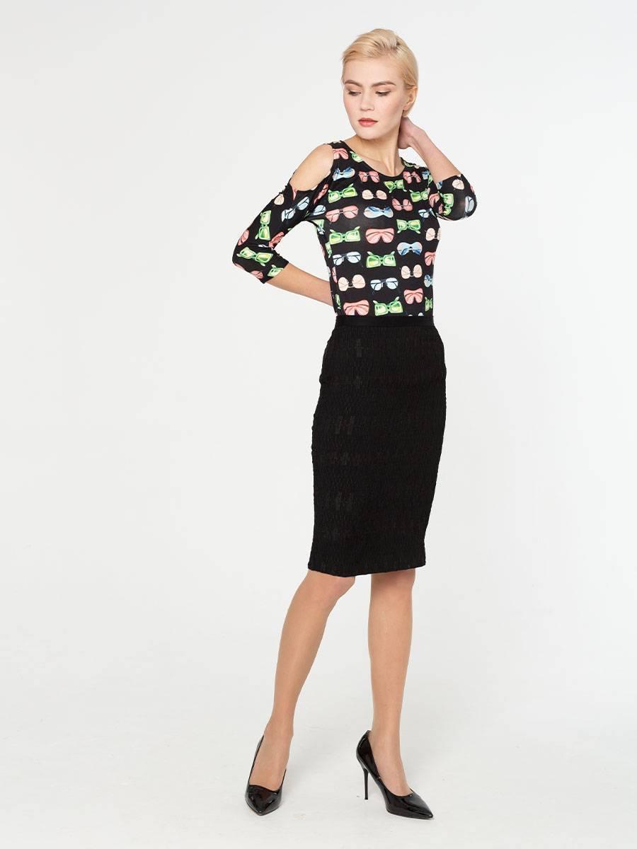 Юбка Б030-506 - Зауженная юбка из стрейчевой ткани ниже колена. Юбка идеально сидит на любой фигуре и позволят создавать разные образы.