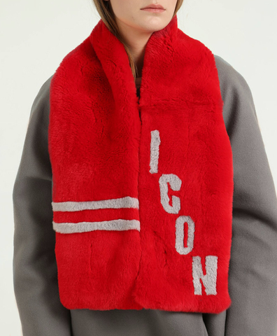 Шарф красный ICON
