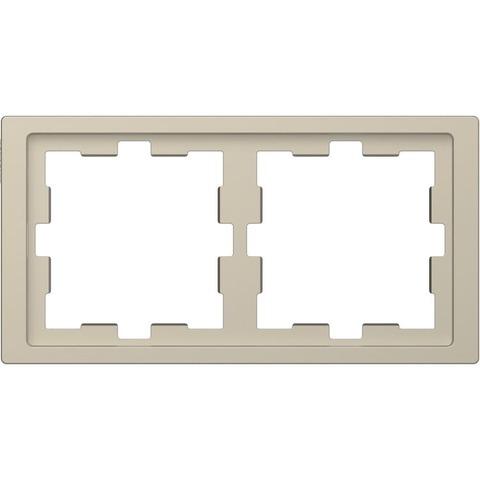 Рамка на 2 поста. Цвет Сахара. Merten D-Life System Design. MTN4020-6533