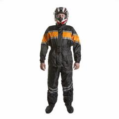 Мотодождевик - PROUD TO RIDE 2 (куртка+брюки), цвет Черный/Оранжевый