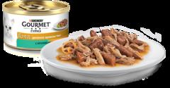 Gourmet Gold Двойное удовольствие с кроликом и печенью 85 г