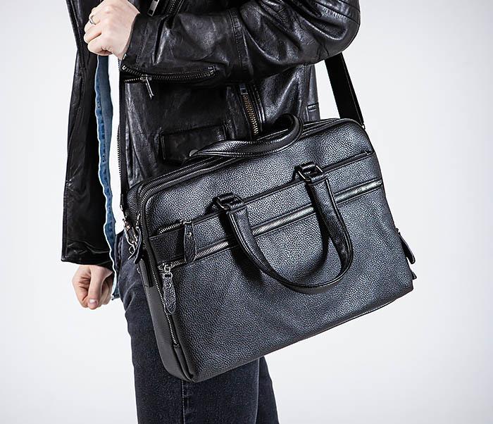 BAG535-1 Кожаная мужская сумка портфель