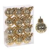 Новогоднее украшение набор из 12 шаров, D30мм, 141958