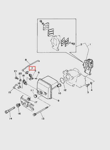 Рычаг тяги подсоса  для лодочного мотора T15, OTH 9,9 SEA-PRO (4-7)