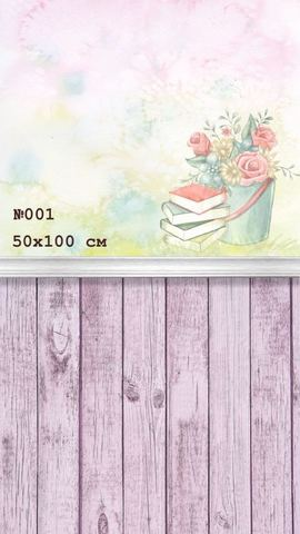Фотофон виниловый «Книги» №001