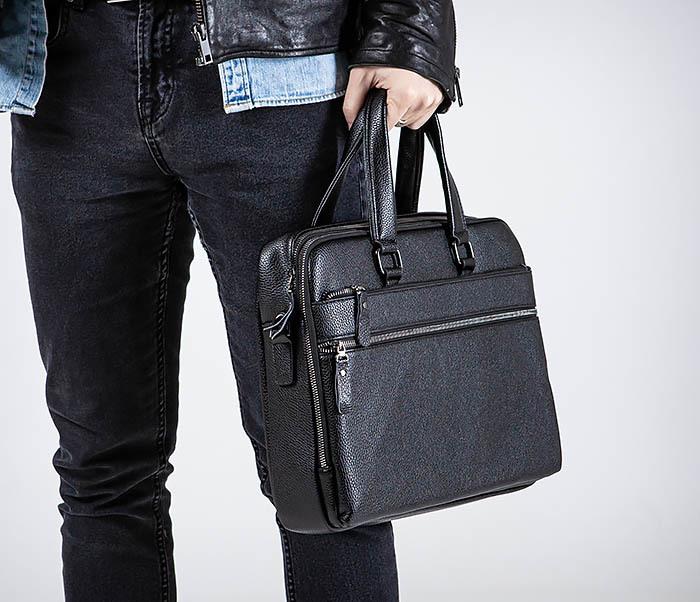 BAG535-1 Кожаная мужская сумка портфель фото 02