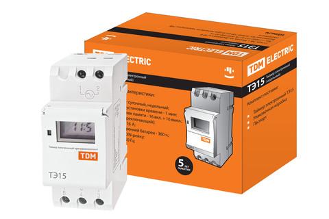 Таймер электронный ТЭ15-1мин/7дн-16on/off-16А-DIN TDM