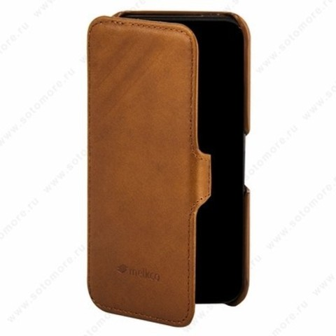 Чехол Melkco для iPhone SE/ 5s/ 5C/ 5 Leather Case Booka Type Craft Limited Edition Prime Dotta (Brown Wax Leather)