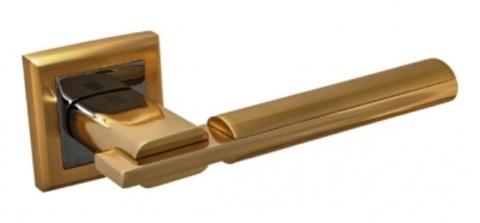 Ручка раздельная  294 SB/РВ матовое золото/золото квадратная