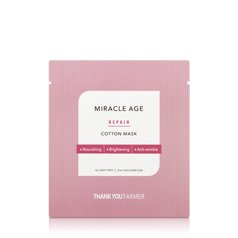 Маска THANK YOU FARMER Miracle Age Repair Cotton Mask 1 шт.