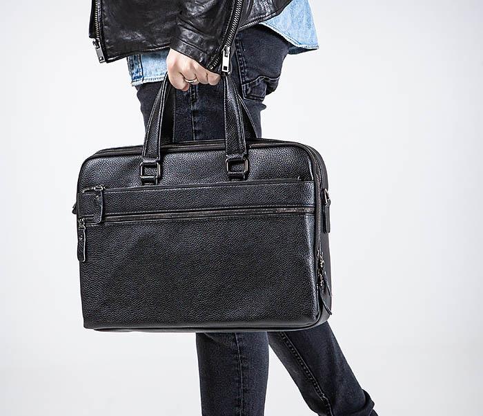 BAG535-1 Кожаная мужская сумка портфель фото 03