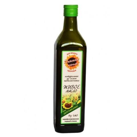Масло Подсолнечное Живое 0,75л стекло(Донская капля)