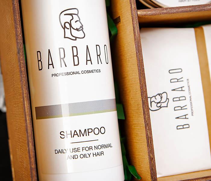 Набор средств «BARBARO» из шампуня, мыла для лица и глины для волос фото 04